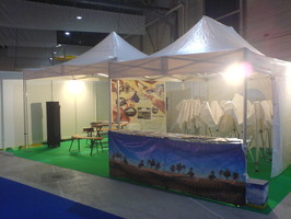 Anticipation Chateau, montage de stand ultra,  Exo-Stands Pros